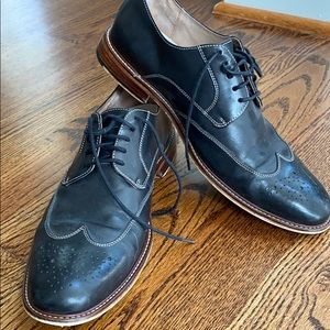 Men's Digby brogue black leather lace up shoes